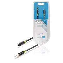 Stereo Audio Verlengkabel 3.5 mm Male - 3.5 mm Female 3.00 m Antraciet