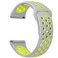 Siliconen Band Voor Apple Watch Series 1/2/3/4 38 MM - grijs/limegroen