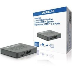 VALUE line 2-Poorts HDMI-Splitter Zwart