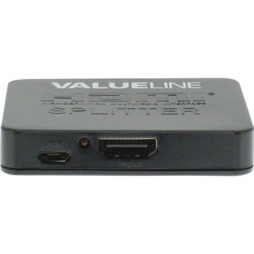 Valueline VALUE line 2-Poorts HDMI-Splitter Zwart