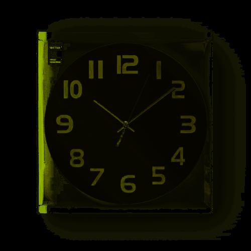 nedis Nedis Ronde wandklok   Diameter 30 cm   Eenvoudig te lezen cijfers   Zwart