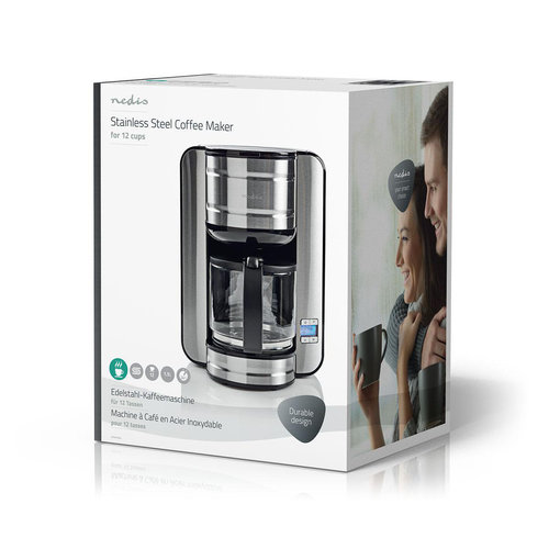 nedis stainless steel coffee maker