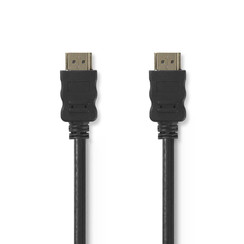 High Speed HDMI™-kabel met Ethernet | HDMI™-connector - HDMI™-connector | 1,0 m | Zwart