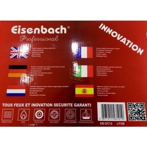 Eisenbach EISENBACH set kookpotten van gegoten aluminium 12 stuks. Met marmeren coating van