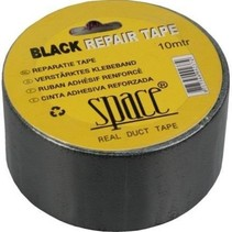 Reparatietape / Duct tape 10 meter x 50mm Zwart
