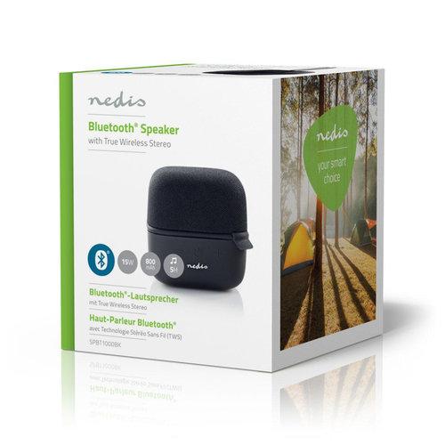 nedis Luidspreker met Bluetooth® | 15 W | True Wireless Stereo (TWS) | Zwart / zwart