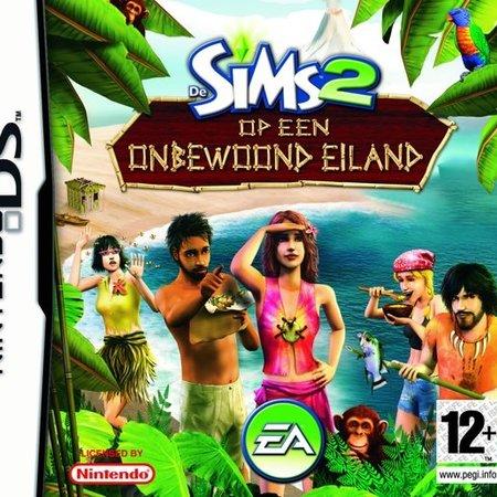 nintendo ds De Sims 2 Op Een Onbewoond Eiland (losse cassette) - nintendo DS