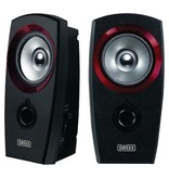 Speaker 2.0 3.5 mm 2 W Zwart/Rood