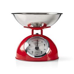 Retro Keukenweegschaal | Analoog | Metaal | Rood