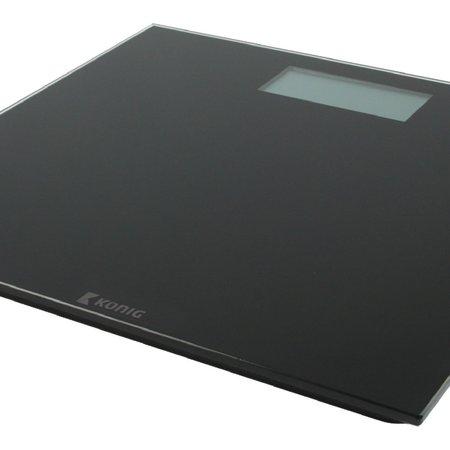 Konig Konig Digitale Personenweegschaal 180 kg Zwart