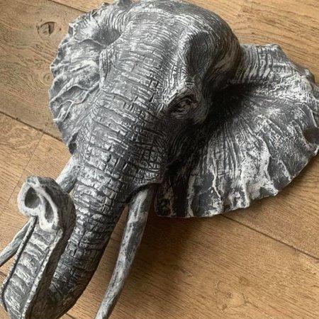 deco Olifant grijs