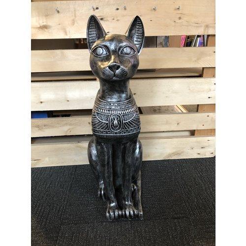 deco Sphinx kat - oud zilver