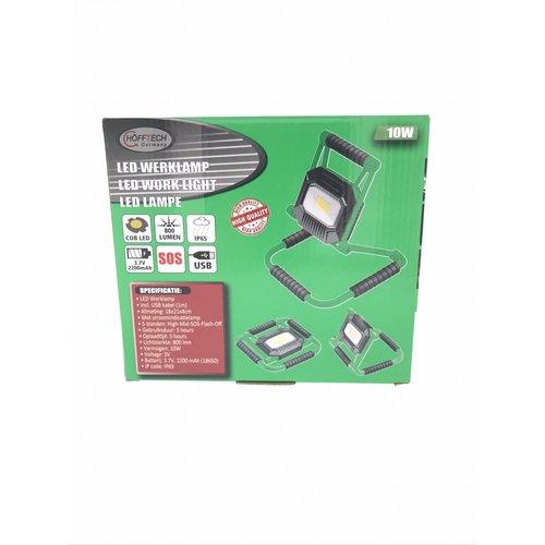 Hofftech Werklamp 10Watt, LED, Bouwlamp, Oplaadbaar, Hofftech