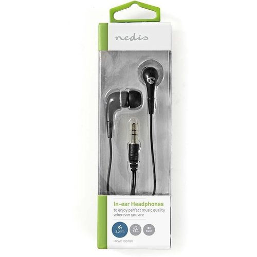 nedis Wired Headphones | 1.2 m Round Cable | In-Ear | Black