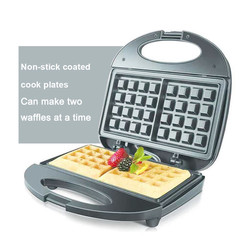 Electric Waffle Maker 2 Slice 750W Non Stick Sandwich Breakfast Machine Sonifer