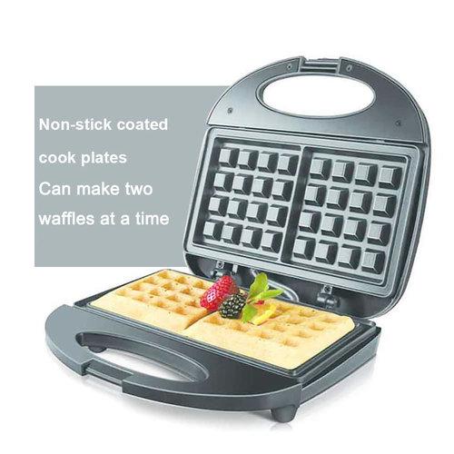 Sonifer Electric Waffle Maker 2 Slice 750W Non Stick Sandwich Breakfast Machine Sonifer
