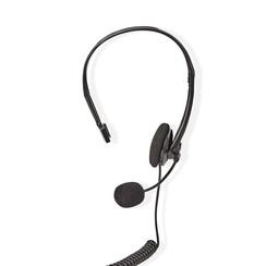 PC-Headset | On-Ear | RJ9-Connector | 2,2 m | Zwart