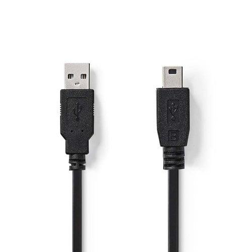 nedis USB 2.0-Kabel   A Male - Mini 5-Pins Male   2,0 m   Zwart