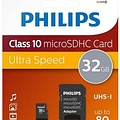 Philips Micro SDHC kaart met adapter - Philips (Class 10, 32 GB)