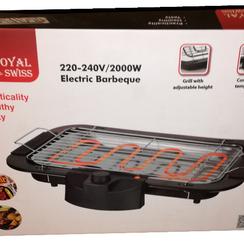 Royal swiss - Elektrische barbecue grill, 2000W