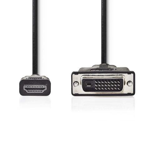 nedis HDMI™-connector - DVI-D 24+1-pins male | 2,0 m | Zwart