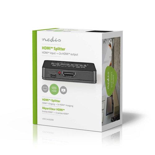 nedis 2-poorts | HDMI-Splitter | Zwart