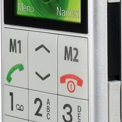 Profoon PM-595 Big Button GSM - Met alarmknop en oplaadstation - Zilver