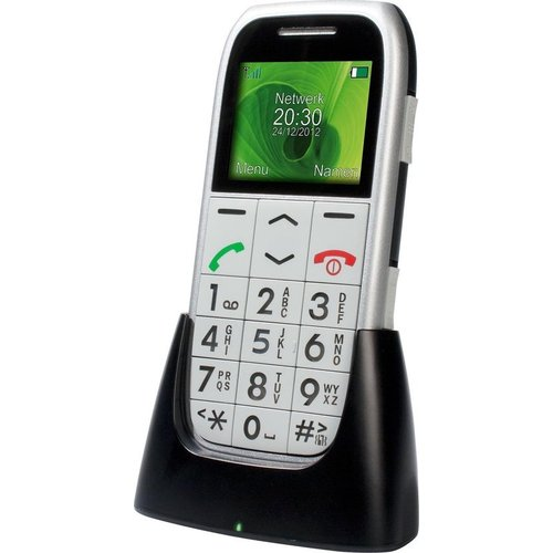 profoon Profoon PM-595 Big Button GSM - Met alarmknop en oplaadstation - Zilver