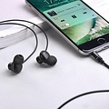 Hoco Hoco - in-ear koptelefoon oortjes - Earphones met microfoon en volumebesturing - Zwart