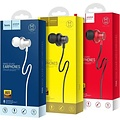 Hoco Hoco - in-ear koptelefoon oortjes - Earphones met microfoon en volumebesturing - Wit
