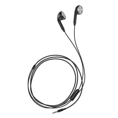 Hoco Hoco universele bekabelde oortjes met microfoon zwart - 3,5 mm jack