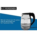 Ekeo EKEO - Glazen Waterkoker - LED - 2200W - BPA vrij - Zwart