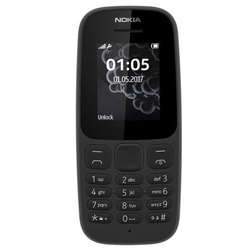 nokia Nokia 105 4,57 cm (1.8'') 73 g zwart Basistelefoon