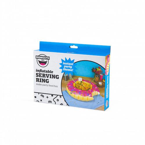 Bigmouth inc Opblaasbare serveerring roze donut