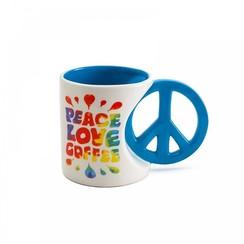 Peace Love Coffee Mok