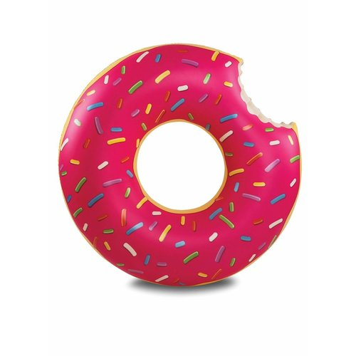 Bigmouth inc Opblaasbare Badring Donut Donut PINK 120cm