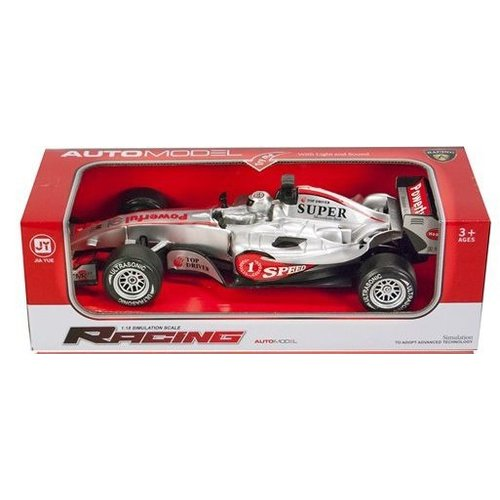a racing Racing auto formule 1 1:12 - zilver