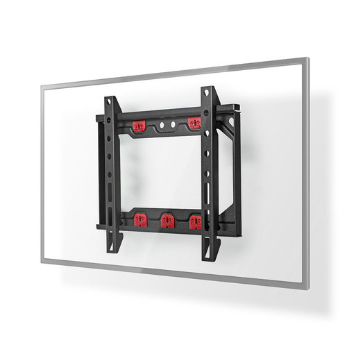 """nedis Fixed TV Drywall Mount   13 - 27""""   Max. 15 kg   28 mm Wall Distance   Black"""