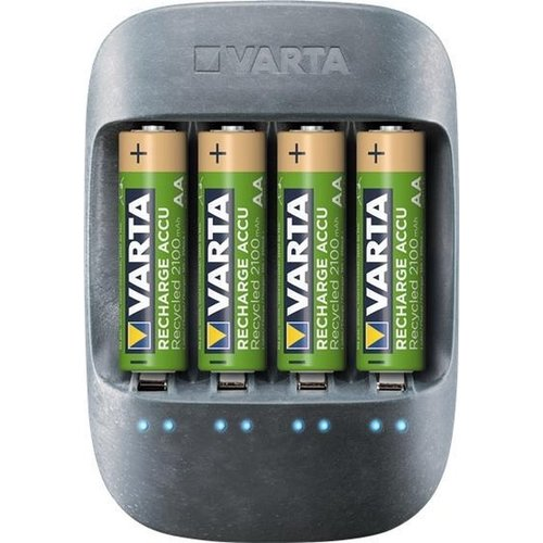 Varta Varta Eco Charger incl 4x AA 2100mah Recycled