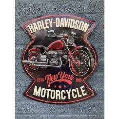 Harley Davidson motorcycles bord - metaal