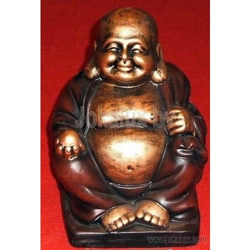 deco Boeddha Beeld - Goud/Bruin