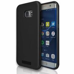 Silicone case Samsung S7 edge - zwart