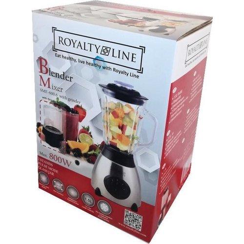 Royalty Line Royalty Line - Luxe Blender RVS met glazen kan van 1,5Liter - 800W - zilver