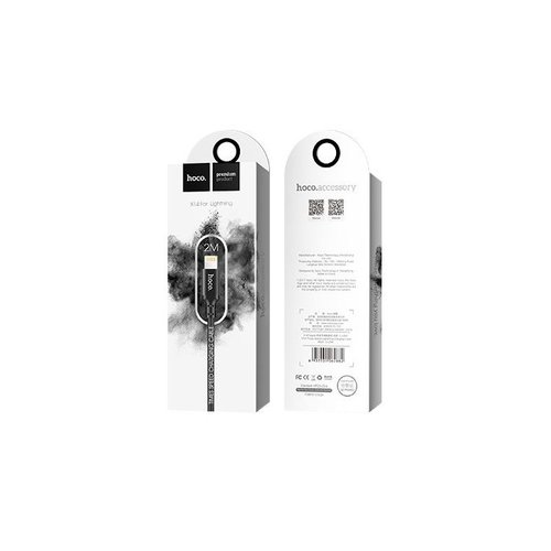 Hoco Hoco USB kabel naar Lightning zwart - 2 m