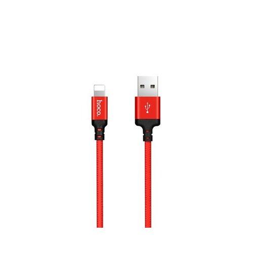 Hoco Hoco USB kabel naar Lightning rood - 2 m