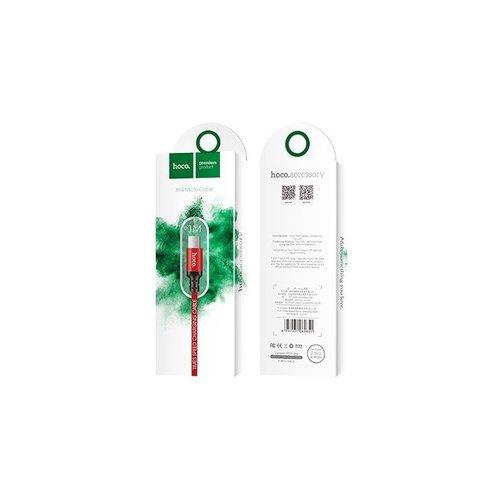 Hoco Hoco USB kabel naar Micro USB rood - 1 m