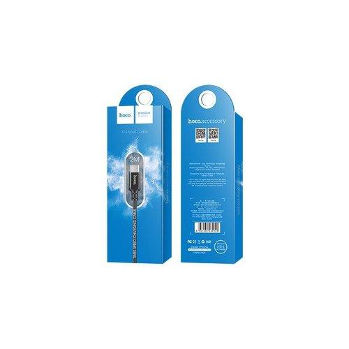 Hoco Hoco USB kabel naar USB-C zwart - 2 m