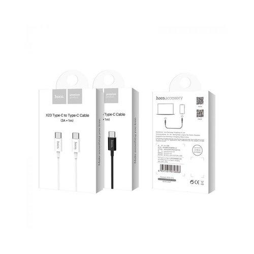 Hoco HOCO X23 Skilled USB-C naar USB-C 3.0A PD Snellader kabel 1 meter wit - voor Android, Apple iPhone, iPad en MacBook