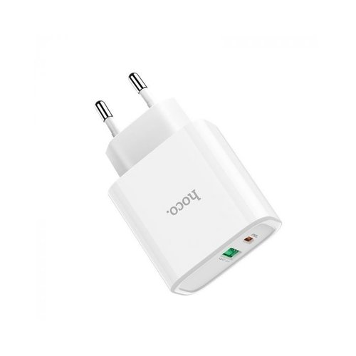 Hoco HOCO C57A Speed Charger PD+QC3.0 Duo-poort 18W oplader - Power Delivery + Quick Charge 3.0 oplader