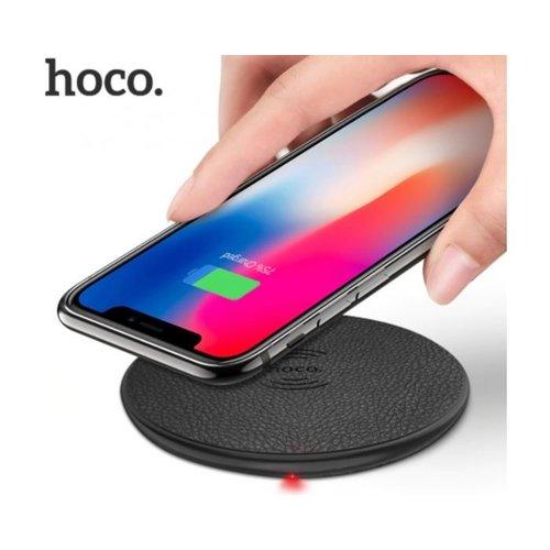 Hoco HOCO CW14 Round Draadloze QI Oplader 5W zwart - Draadloze smartphone oplader - Wireless charger